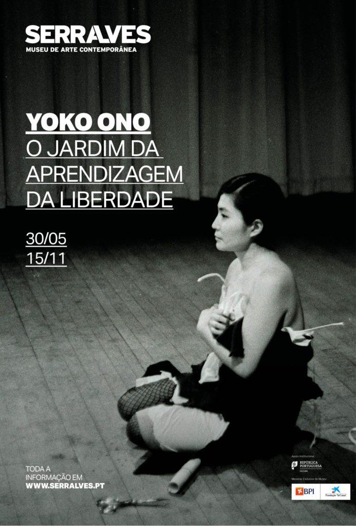Cartel da expo de Yoko Ono en Serralves, Porto